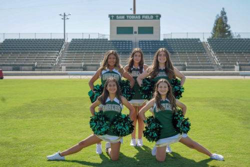 Back From left to right: Jackalyn Benitez, Lilyana Adams, Kayli McDaniel Front Row left to right: Victoria Tlaxcala, Ella Shaw